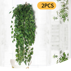 2Pcs Artificial Fake Flower Vine Hanging Garland Plant Home Outdoor Garden Decor $7.99