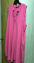 Mile Gabrielle  Unlined Summer Pink Dress I Use As Cover Up  Plus Size 3X $14.00
