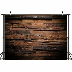 8x6ft Brown Wood Backdrop Photography Customized Vintage Background Studio Props $37.55