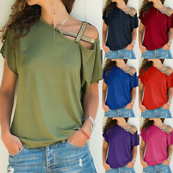 Summer Women Short Sleeve Size Plus T Shirt  Solid Loose Casual Blouse Tops