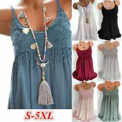 Women Summer Crew Neck Tank Top Dress Solid Casual Tassel Midi Dress Beach Dress $12.66