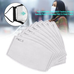 10-100Pcs PM2.5 Activated Carbon Filter 6 Layers Replacement For AdultChild Lot $8.99