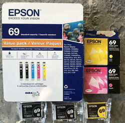 Epson 69 Standard Capacity NEW UNOPENED Black & Color combo Ink cartridges LOT!! $119.99