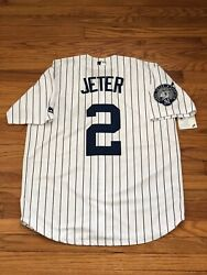 Derek Jeter #2 New York Yankees Jersey With Captain Patch Men's Size Small $45.00