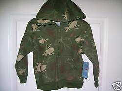 Army Helicopter Pilot Full Zipper Hoodie Jacket Boys Toddler Size 24 Months NWT $17.59