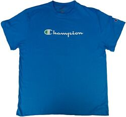 Champion Men#x27;s Big amp; Tall Blue Short Sleeve Shirt $24.99