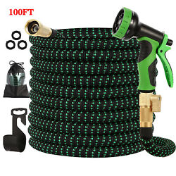 Expandable Garden Hose 100ft UpgradedFlexible Lightweight Water Hose with 9 Way $49.99
