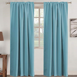 Window Treatment Solid Blackout Kids Room Noise Reducing Panels Nursery Care New $47.62