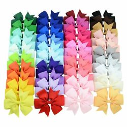40 Pcs Lots Boutique Baby Girls Bows Kids Alligator Hair Clips Women Colorful $9.99