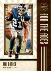 2020 Panini Legacy For the Ages #11 Tiki Barber $1.25