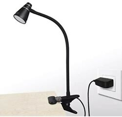 Clamp Desk Lamp Clip on Reading LightAdjustable Color Temperature 10 Led BLACK $20.00