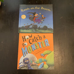 Room On The Broom Hardcover amp; How to Catch a Monster Hardcover New Kids Books $7.00