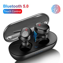 TWS Bluetooth 5.0 Wireless Earphones Stereo Headsets Mini In Ear For iOS Android $6.29