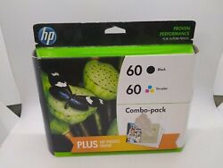 BRAND NEW HP 60 Black 60 Tri-color Set of 2 Ink Cartridges Expired wphoto paper $24.95