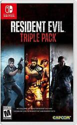 Resident Evil Triple Pack 4 5 6 Nintendo Switch Brand New Factory Sealed  $38.99