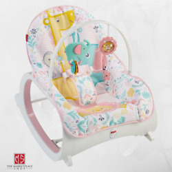 Infant to Toddler Rocker Pink Baby Seat Swing Chair Bouncer For New Born New $58.95