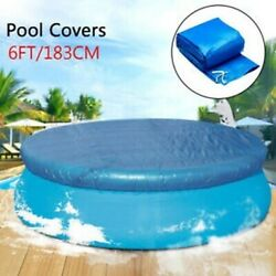 6ft 183cm Round Swimming Paddling Pool Cover Inflatable Easy Fast Set Rope $18.99