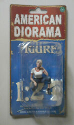 Car Girls in Tees Michelle American Diorama 1:24 Scale Lady 1.75quot; $6.79