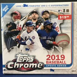 2019 Topps Chrome Update Mega Box - FACTORY SEALED 🔥 EXCLUSIVE $37.95