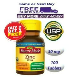 Nature Made Zinc Vitamin 30 mg Dietary Supplement 100 Tablets Exp 09 24 $8.88
