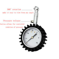 2inch Vehicle 360° Tire Pressure Gauge Tire Air Inflator Rotatable Tire Tyre $10.93