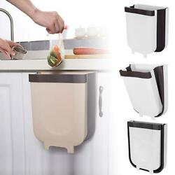 Creative Wall Mounted Folding Waste Bin Kitchen Bin Can Rubbish Container Box $13.96