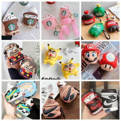 3D Cartoon Cute Airpod Silicone Case cover for Apple Airpods Pro 12 Accessories $10.44