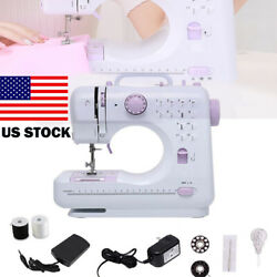 US Portable Electric Sewing Machine Double Speed 12 Stitches Household Tailor $59.98