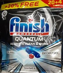 Finish Powerball Quantum Ultimate Dishwasher Detergent 24 Tabs FREE SHIPPING! $11.09