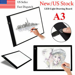 A3 LED Tracing Light Box Drawing Touch Board USB Copy Pad Table Stencil Display $32.63