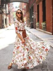 Women Casual Half Sleeve Boho Dresses Swing Floral Printed Holiday Dresses GBP 18.50
