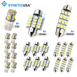 Syneticusa 20x Combo LED Car Interior Dome Map Door License Plate Lights White $10.79