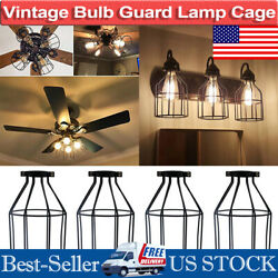 Industrial Vintage Metal Cage Wire Frame Pendant Light Guard Ceiling Lamp Shade $59.39