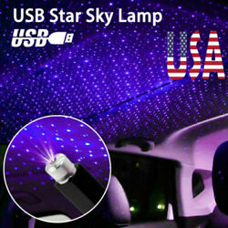 USB Car Atmosphere Starry Sky Lamp Interior Ambient Star Light LED Projector USA $6.99
