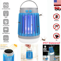Electric UV Mosquito Killer Lamp OutdoorIndoor Light Fly Bug Insect Zapper Trap $19.89