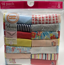 Girls Bikini Panties Underwear Soft Cotton Tag Free Comfort 14 Pair Package Sz 8 $14.99