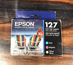 Brand New Epson 127 T127520 Color Ink Cartridges $50.00