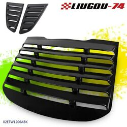 For 2015-2018 Ford Mustang GT V6 V8 ABS Rear Window Louver Black Cover $141.99