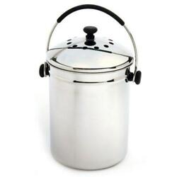 Stainless Steel Kitchen Compost Keeper Bin with Charcoal Filter $85.04
