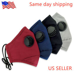 100% Cotton Washable Reusable Face Mask + 2 Filters  Activated Carbon respirator $7.89
