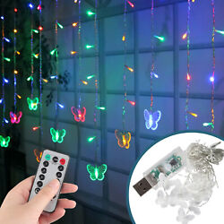 3.5M 96 LED String Curtain Lights Fairy Wedding Party Decor Colorful Waterproof $15.97