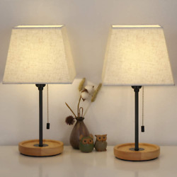 2 Lampara Modernas Para Mesa De Noche Lamps Bedroom Nightstand Wooden Lamps $74.51