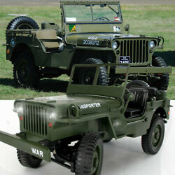 JJRC Q65 Electronic 2.4G 1:10 Jedi Jeep Truck Off Road Military RC Car RTR Toys $59.99