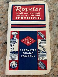 1956 ROYSTER FERTILIZER ADVERTISING NOTEBOOK F.S. ROYSTER GUANO COMPANY $8.00