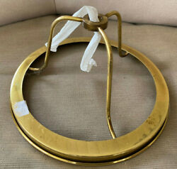 NOS Vintage Lamp Part Brass Shade Holder Round 7 3 8quot; 3 1 2quot; New Old Stock 1970s $34.79