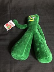 Vintage 1988 GUMBY Plush Toy Standing Stuffed Animal Ace Novelty 13quot; W TAG $34.99