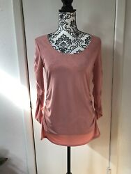 Travel Elements Pink Blouse Size Small With Long Sleeves $14.99