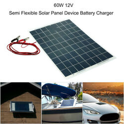 60W Semi Flexible Solar Panel Battery Charger for House Boat Roof Camping USA $35.99