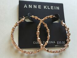 Anne Klein Earrings $35 Rose Gold Tone New Over Stock With Tags
