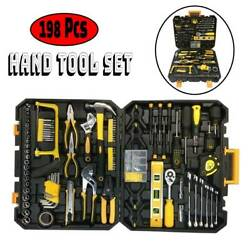 198 Pcs Hand Tool Set  Mechanics Kit General Household Hand Tool Kit with Case $49.98